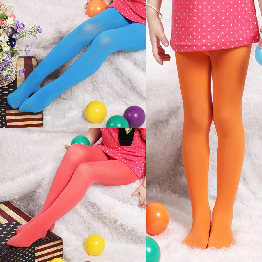 Lovely Kid Pure Color Velvet Leggings Baby Pantyhose Stocking Dance Tights For Girls Toddler Knee High Socks