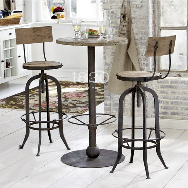 american country to do the old retro rust iron bar chairs bar table cards antique wood tables. Black Bedroom Furniture Sets. Home Design Ideas