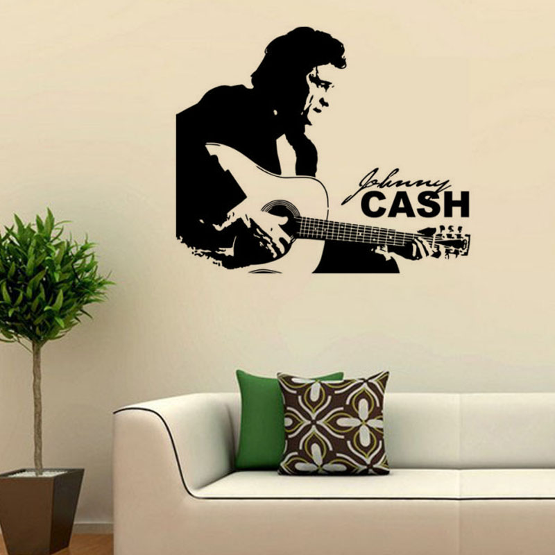 Famous american country music singer wall sticker vinyl for Country wall mural