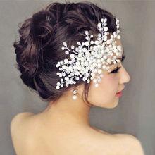 Charm Women Bride Crystal Pearl Rhinestone Bridal Wedding Hair Comb Hair Pins Accessories 1Pcs 2 Styles(China (Mainland))