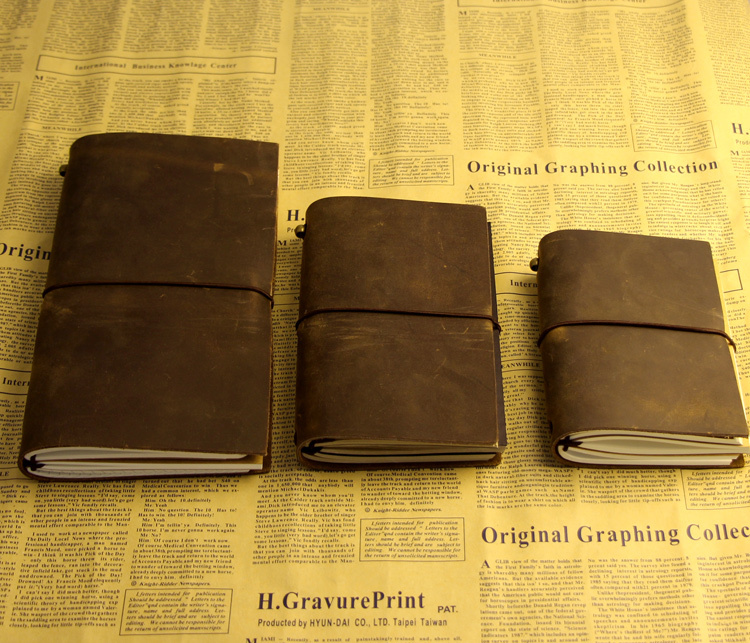 Diaries Journals notebook genuine leather vintage hand book D20141029(China (Mainland))