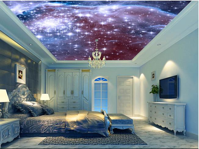 Custom universe wallpapers cosmic star bedroom ceiling for Waterproof wallpaper for bedrooms