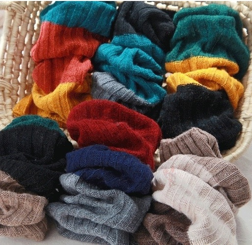 2016 New Spring Autumn Korean Casual Style Three Colors Block Cotton Knitted Womens Plus Size Leg Warmers, Warm Leg Tights(China (Mainland))
