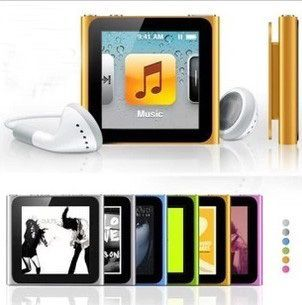 Silver FOR Apple iPod nano 6th Generation 1.8'' IPS touch screen 32GB MUSIC FM VIDEO MP3 PLAYER A variety of language(China (Mainland))