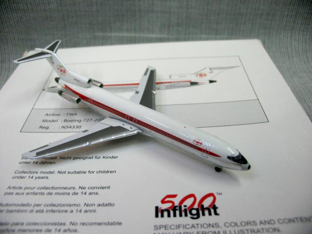 Inflight500 TWA 727-200 1:500 American Airlines n54330 aircraft model(China (Mainland))