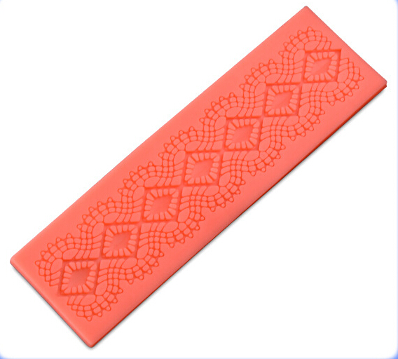 2015 New Cooking Tools Cake Tools lace Silicone Fondant Cake Chocolate Mold Craft Decorating Tools Mould D17(China (Mainland))