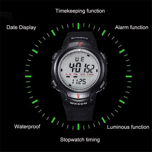 Sport Digital Watch 50M Waterproof
