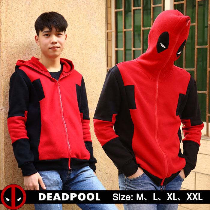 Deadpool Hoodie Marvel Comic Wade Wilson Hooded Sweatshirt Zipper Outerwear Jacket Winter 3D Hoodies Anime Characters Hoodies(China (Mainland))