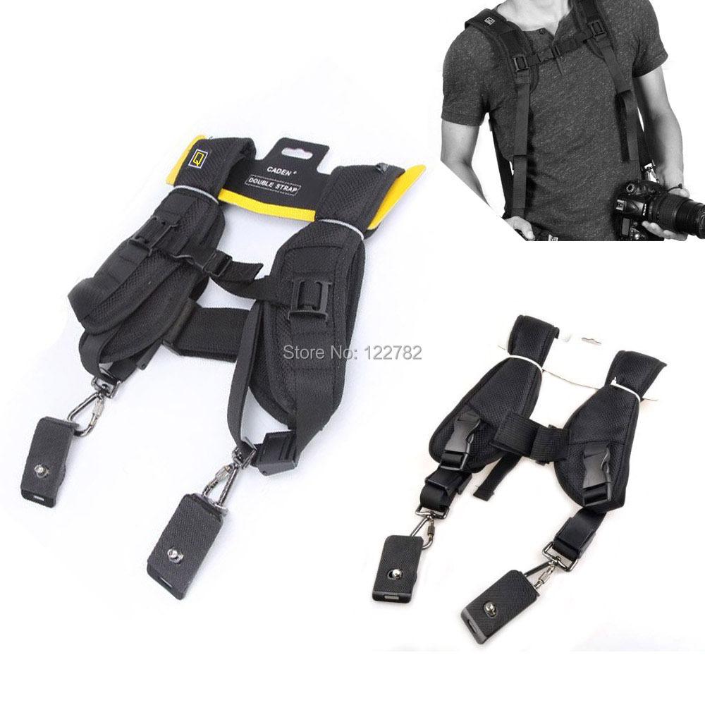 New arrival universal Quick Rapid Camera Neck Shoulder Strap Camera double Shoulder Sling Black Belt Strap For Canon EOS Nikon(China (Mainland))