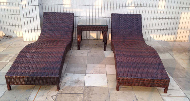 Outdoor Rattan Chairs Chaise Wicker Chair Outdoor Garden Terrace Swimming Pool Lying Bed Rattan Sofa(China (Mainland))