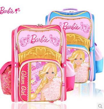 school bags for girls Barbie cartoon shoulder school bag school bags kids backpack for girls mochila satchelWaterproof bags(China (Mainland))