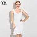 YuooMuoo 2016 New Fashion Women Bandage Dress Brand Bodycon Party Dresses Celebrity Inspired Sexy White Dresses