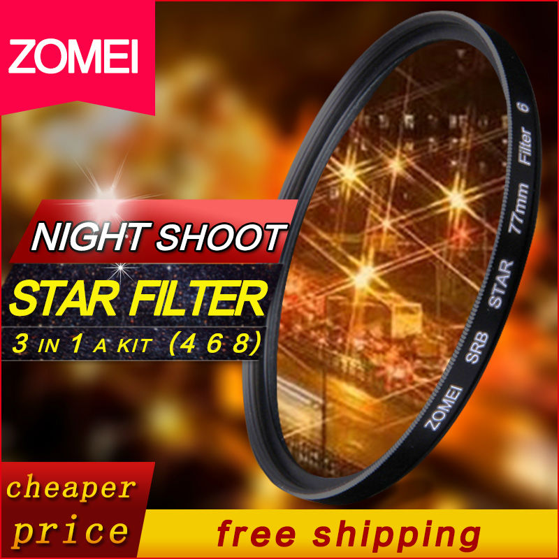 ZOMEI 77mm star filter 8 point Professional high quality star-effect Starburst for Canon Nikon Sony Camera Lens(China (Mainland))