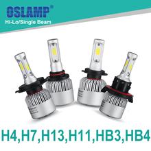 Oslamp Hi-Lo Beam/Single Beam COB H4 H7 H11 H13 9005(HB3) 9006(HB4) 72W/pair 6500K LED Car Headlight Auto Led Head Lights SUV(China (Mainland))