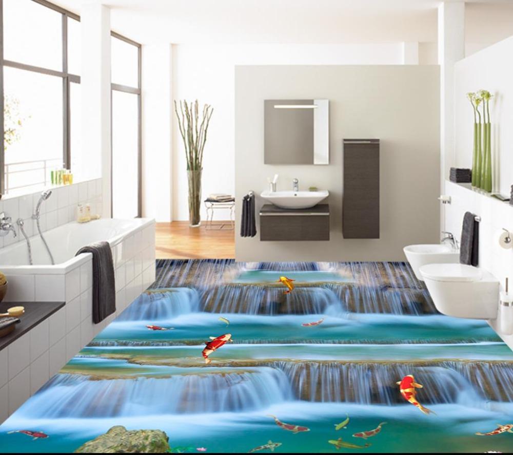 Promoci n de piso de vinilo pegatinas compra piso de for Vinilos 3d para suelo