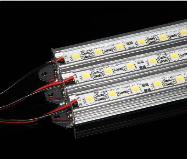 LED Rigid strip bar 60pcs/M  SMD5050 Ushape with aluminum pofile nonwaterproof