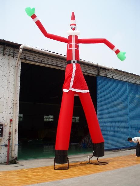4m Costume advertising inflatable air dancer with 2 legs(China (Mainland))