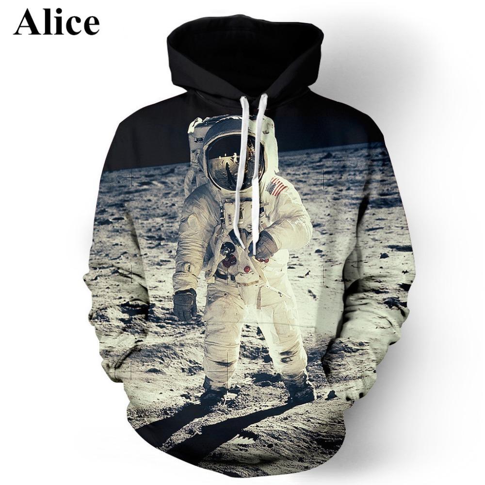 (Alice)2016 3 d star universe space digital printing couple sets leisure men and women hooded hoodie ,men sweatshirts()