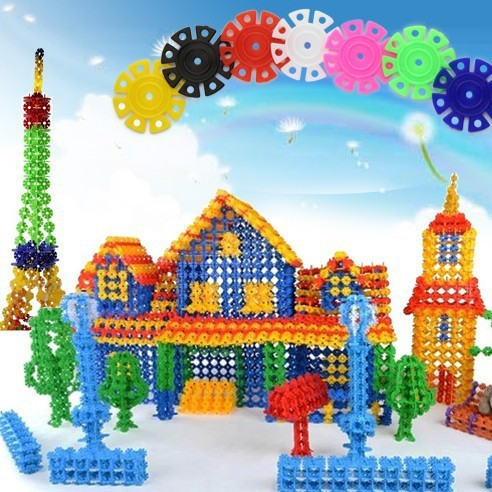 WJL024 400PCS/pack Plastic Building Blocks Children's Toys Blocks Items Gear Stuff Accessories Supplies Products(China (Mainland))
