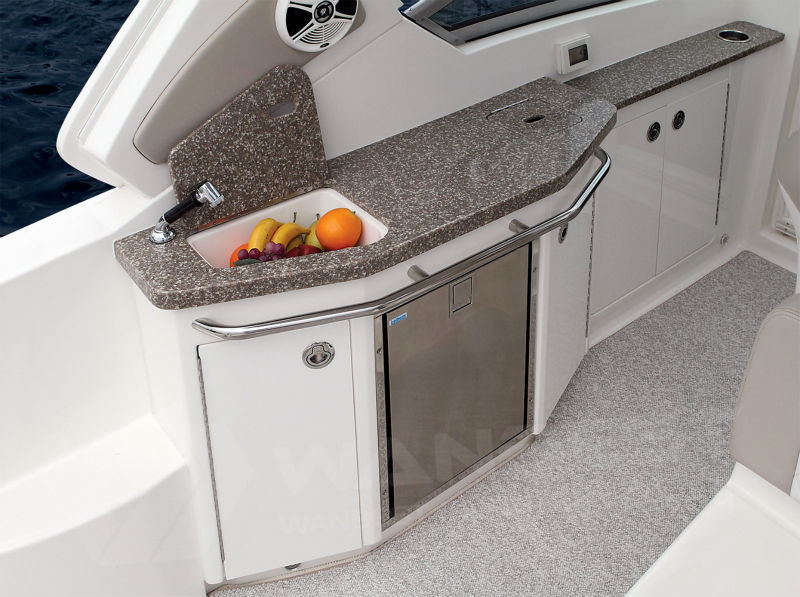 Boat kitchen solid surface artificial marble counter top for Boat kitchen cabinets