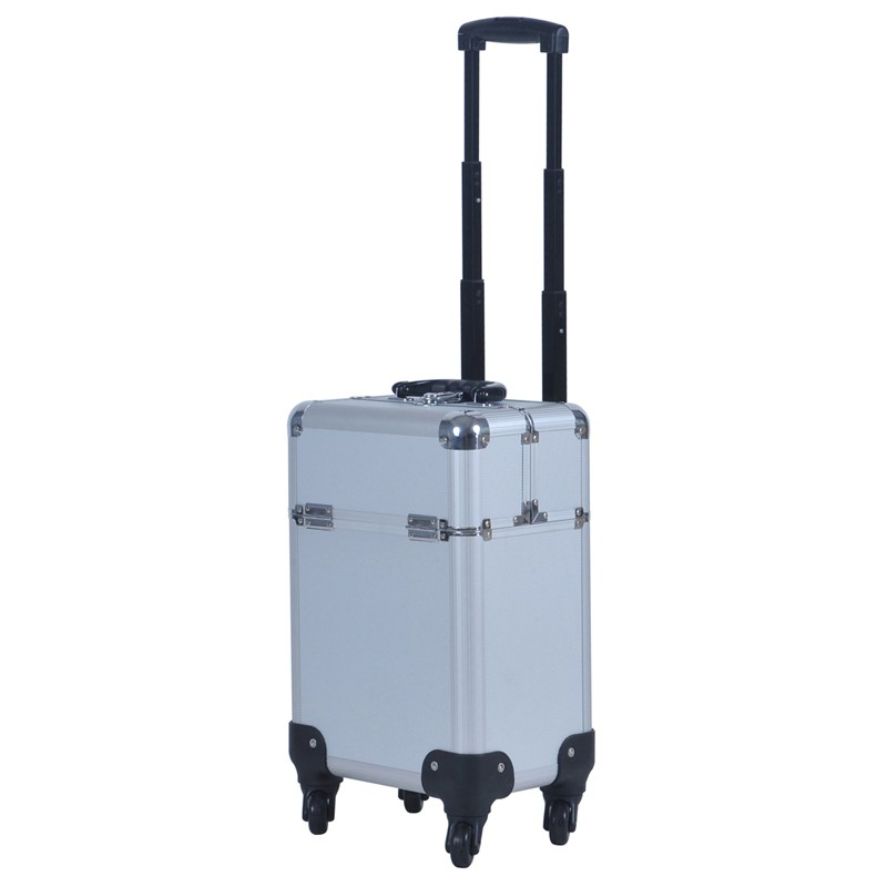 wenjie brother New Arrival Fashion Professional Rolling Makeup Case Multifunctional Trolley Cosmetic Case With 360 Degree Wheel