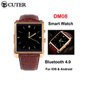 New DM08 Bluetooth Smart Watch IPS Smartwatch Geniune Leather Business Wristwatch Full View HD Screen For