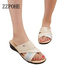 Buy 2017 Summer new comfortable mother soft sandals slippers elderly non-slip slippers large size women slippers size 40 41 for $11.96 in AliExpress store