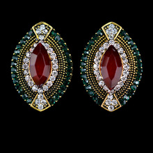 2016 Women Earrings Brincos Sterling Jewelry Er-022496 Retro Earrings Elegant Carving Oval Fashion Earrings Jewelry Vintage(China (Mainland))