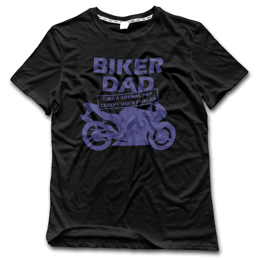 I am Biker Dad CHI Men t shirt Short Sleeve Printing kpop Shirts for Men 2017 Brand New Arrival Style tee(China (Mainland))