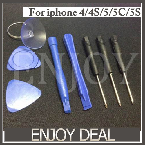 8 in 1 Opening Pry Tools Screwdriver Repair Kit Set Screwdriver For iPhone 5 5s 4 4S 4G 3G 3GS For iPod Touch For Samsung S4 S3(China (Mainland))