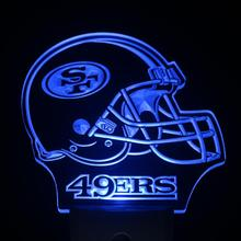 ws0171 San Francisco 49ers Helmet Day/ Night Sensor Led Night Light Sign(China (Mainland))
