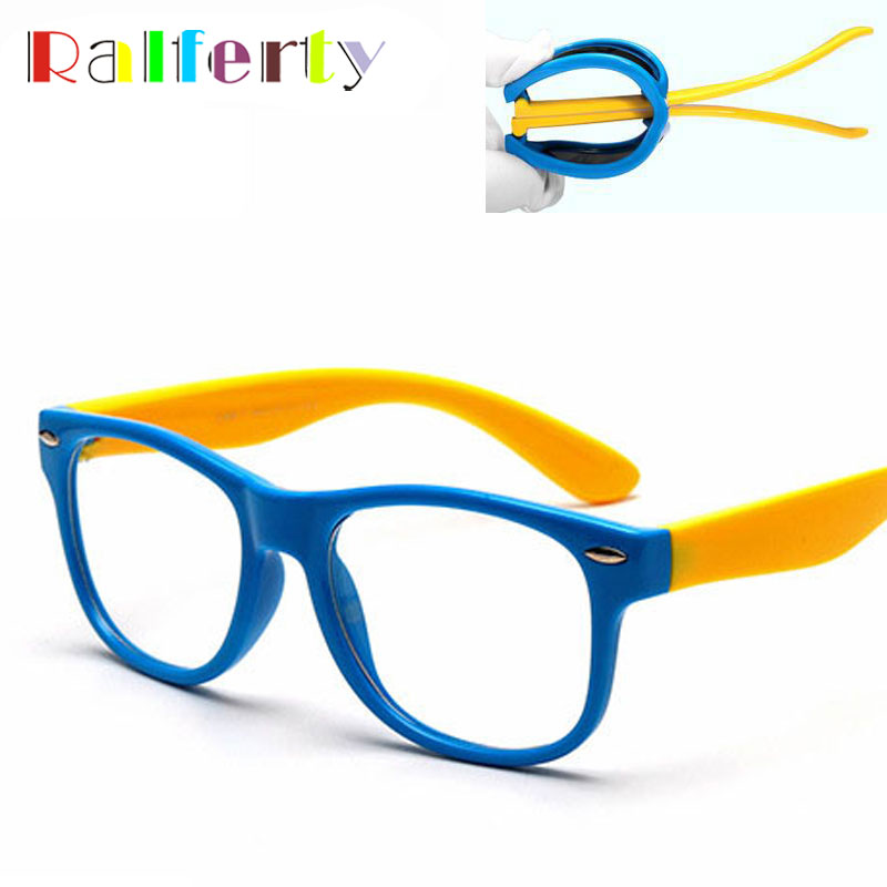 ralferty tac child kids transparent eyeglasses frame boy girl prescription optic spectacle frames eyewear infant oculos