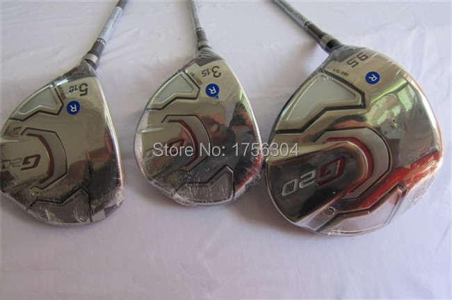 G20 Woods Left Hand Golf Clubs Driver + Fairway Woods Regular/Stiff Flex Graphite Shaft Come With Head Cover & Wrench(China (Mainland))