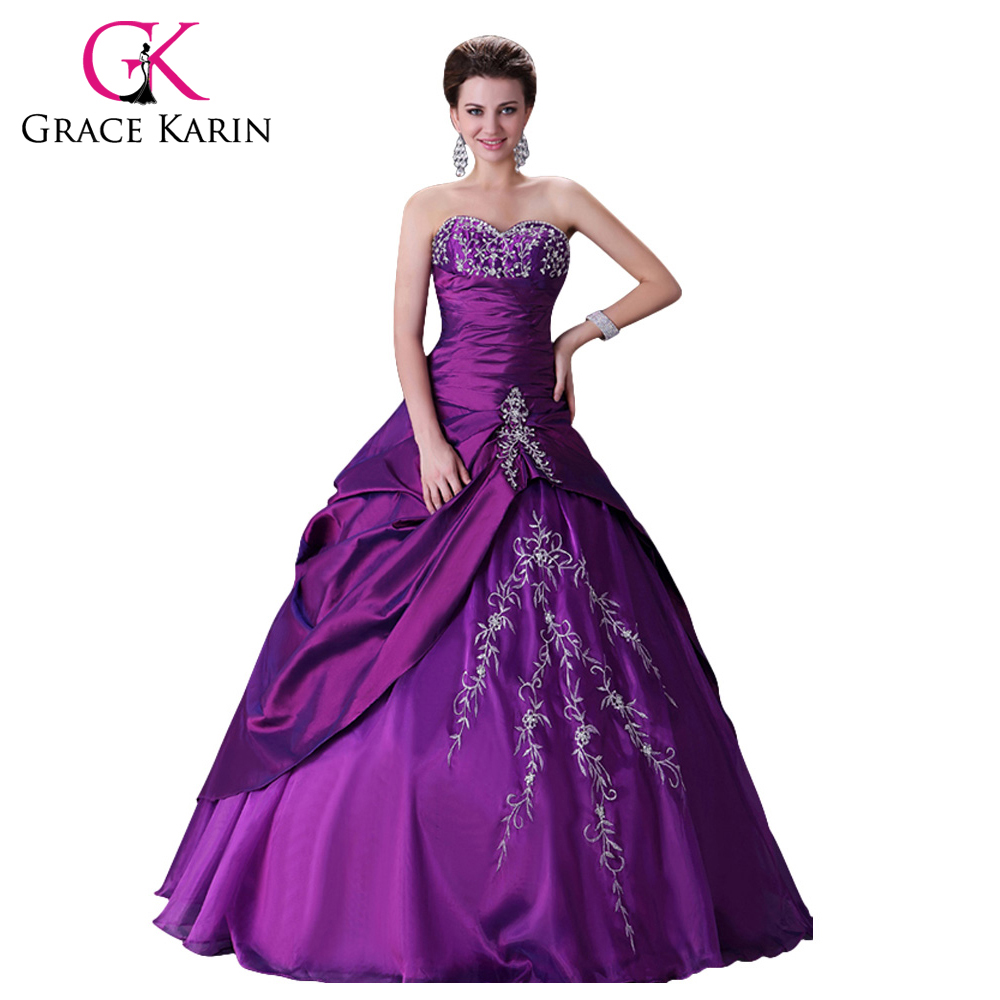 Elegant design free shipping purple wedding dresses gown for Elegant ball gown wedding dresses