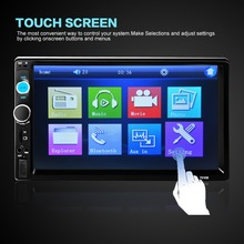 "2 Din 7"" TFT Screen Bluetooth HD 1080P Car Radio Audio MP5 Player Support Reverse View Support AUX FM USB SD MMC auto estereos(China (Mainland))"