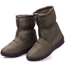 Invierno botas de Mujer Botas Botines Impermeables Abajo Botas de Nieve Caliente Zapatos de Las Señoras Mujer Cremallera de Piel Plantilla Envío Botas Mujer(China (Mainland))