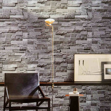 Modern 3D wallpaper gray brick wall vinyl kitchen wall paper red brick wall paper yellow stone wall mural for TV Background(China (Mainland))
