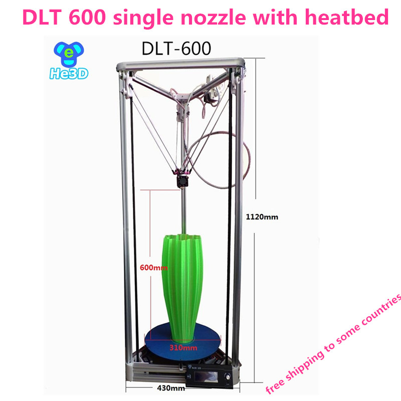 High precision Auto- leveling single extruder DLT-600 3D printer 2004 LCD DIY kit with heatbed<br><br>Aliexpress