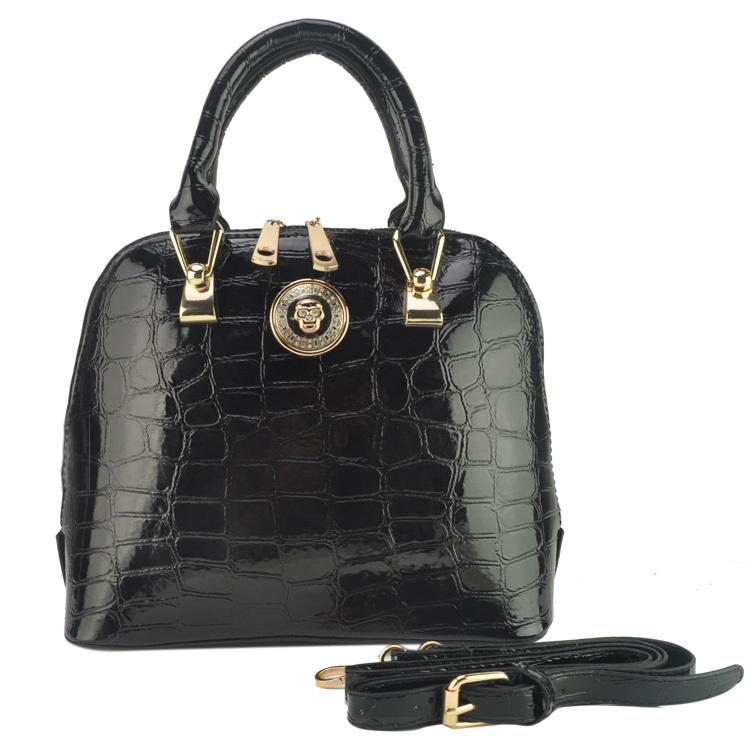 8 Color women Crocodile Grain Pattern PU Leather Women Handbag Fashion Bag/ Tote Bags Promotion vk1337/vk1338(China (Mainland))