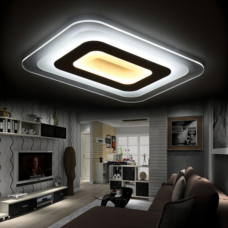 ultra thin dimming modern led ceiling light living room lights acrylic