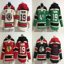 Jonathan Toews Hoody Jersey Blackhawks #19 Jonathan Toews Home Premier Stitched High quality hoodie Ice Hockey Jerseys M-XXXL(China (Mainland))