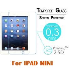 9H 2.5D 0.3mm Ultra-thin Premium Tempered Glass For Ipad mini 1& mini2 & mini 3 7.9″ Ultra Clear Screen Protector Film