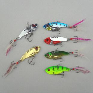 6pcs/lot 12g 5.5cm fishing lures set spoon china Metal VIB sequins Fish hard bait bass vibration lure crankbait(China (Mainland))