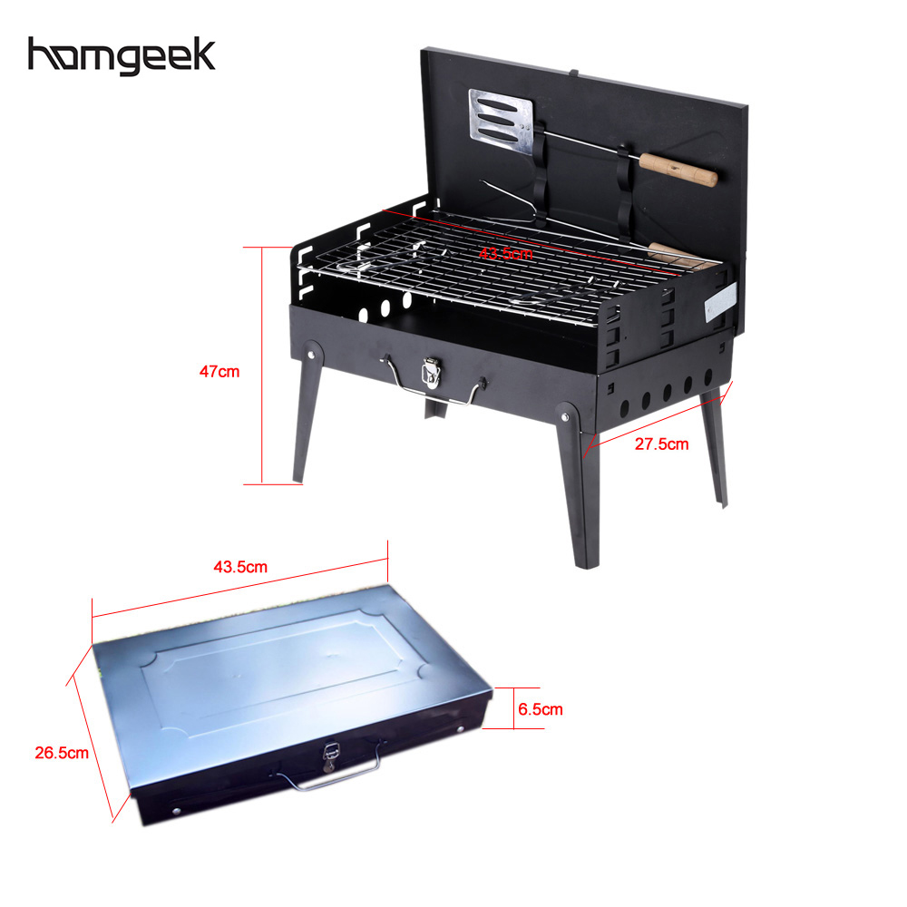 Folding Picnic Camping Charcoal BBQ Grill Adjustable Height Portable Garden barbecue Grill Broiler Outdoor Cooking Tool(China (Mainland))