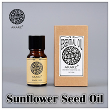 AKARZ Famous brand pure natural Sunflower seed essential oil Skin luster Moist skin Moisture anti-aging Sunflower seed oil(China (Mainland))