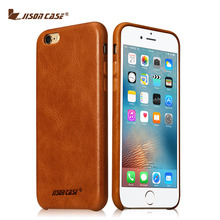Jisoncase for iPhone 6s 6 Case Genuine Leather Fundas for iPhone 6 plus 6s plus Cover Luxury Brand Phone Bags & Cases(China (Mainland))
