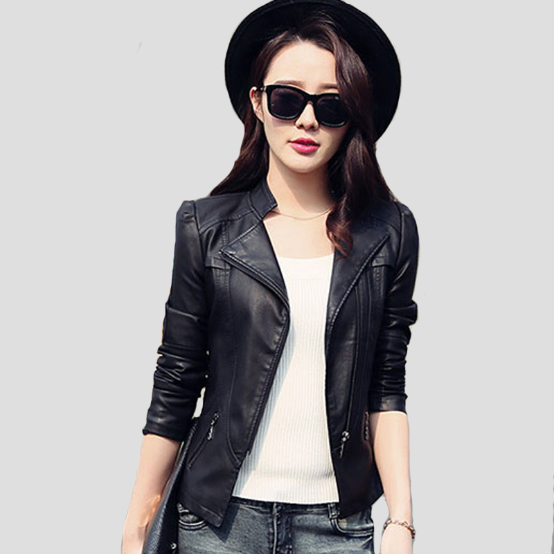 Short leather jacket black – Modern fashion jacket photo blog