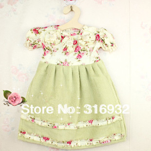 P1 New Arrival! Cotton lovely flower dress shaped double layer cleaning towel, 1pc retail