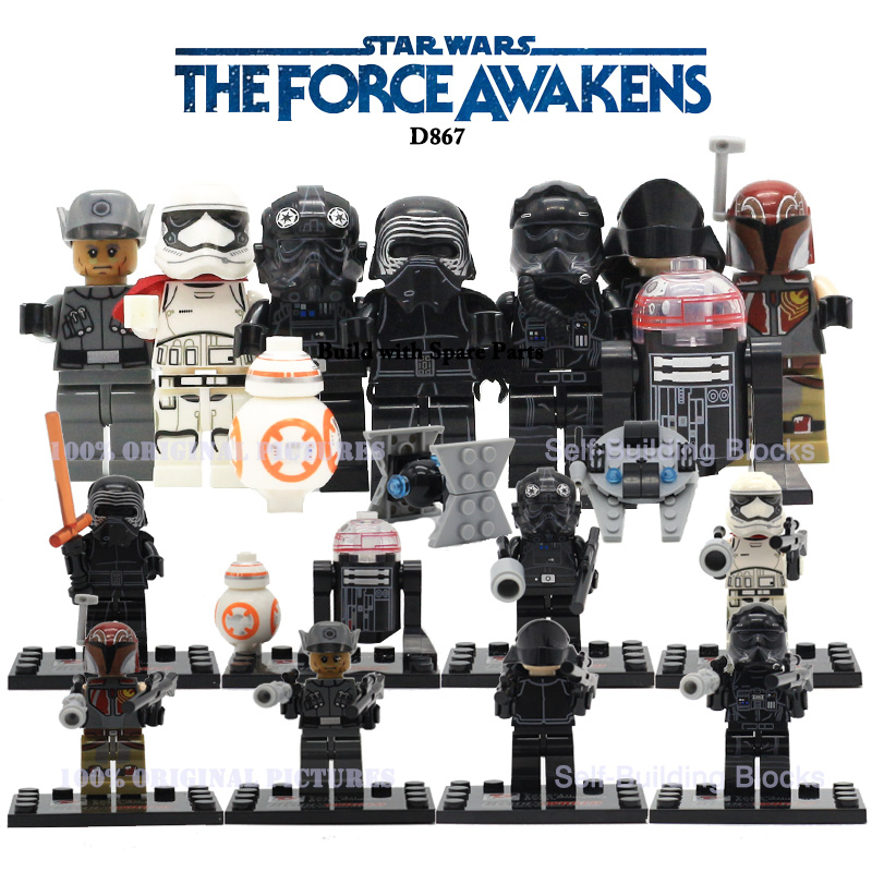 Newest Star Wars The Force Awakens Dargo D867 Minifigures Kylo Ren BB-8 R5-D4 Classic figures Collection Building Block Gift<br><br>Aliexpress