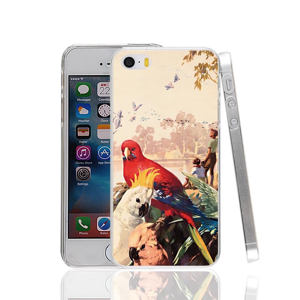 17369 RAINBOW PARROT AUSSIE AUSTRALIA hard transparent Cover Case for Apple iPhone 4 4S 5 5S 5C SE 6 6S Plus(China (Mainland))